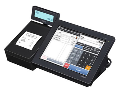 casio V R100 cash register
